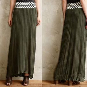 Antropologie Dear Creatures Pleated Maxi Skirt